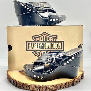 "Harley Davidson Womens Leather Latoya 4"" Wedge"
